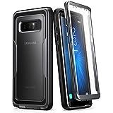 Carcasa para Samsung Galaxy Note 8 (2017), Funda completa resistente i-Blason con protector de pantalla integrado, serie Unicorn Beetle PRO (Negro)