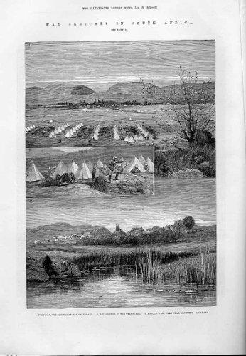 Pretoria, Heidelberg, Antiker Druck Afrika 1881 - Afrika Antique Print