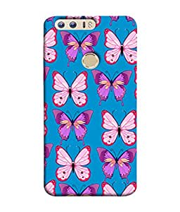 PrintVisa Designer Back Case Cover for Huawei Honor 8 (Diamond Love Heart Shaped Pattern Red and White color Designer Case Different Pattern Cell Cover Multi color Smartphone Cover Valentines day for Girlfriend)
