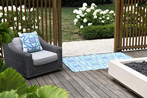 Fab Hab - Seville - Multifarben - Blau - Teppich/ Matte für den Innen- und Außenbereich (180 cm x 270 cm) -