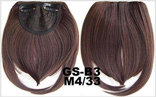 Extension per capelli sintetiche - capelli, corti, lisci, per fronte, frangia, lato, - colori: nero, castano, biondo, bianco