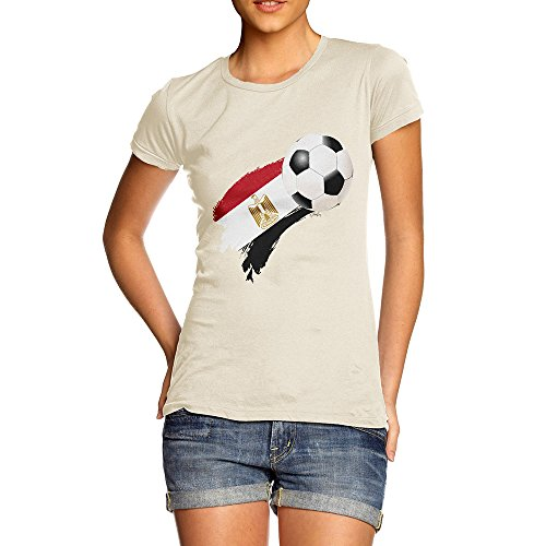 TWISTED ENVY Funny T Shirts for Mum Egypt Football Soccer Flag Paint Splat