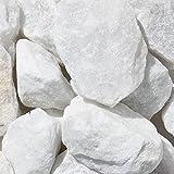zierkiesundsplitt Marmor Weiss Bruchsteine Gabionensteine 1000kg Big Bag 40-60mm, 60-120mm (40-60mm)
