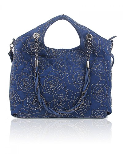 Craze London, Borsa a mano donna Navy