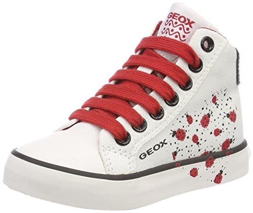 K Girl F Hohe Sneaker, Weiß (White/Red), 33 EU ()
