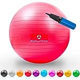 Gymnastik-Ball Pluto / Robuster Sitzball und Fitnessball / 85 cm / rot