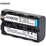 Andoer rechargeable remplacement Camescopes Li-ion 2500mAh Lithium batterie pour Sony NP-F550 NP-F330 NPF570 NP-F530 NP-F730 NP-F750 Salut-8