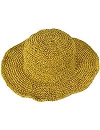 TATTOPANI Amplia Borde tricotado verano crocht cáñamo algodón mezcla sombrero