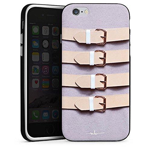 Apple iPhone X Silikon Hülle Case Schutzhülle Schnallen Flieder Leder Mode Silikon Case schwarz / weiß