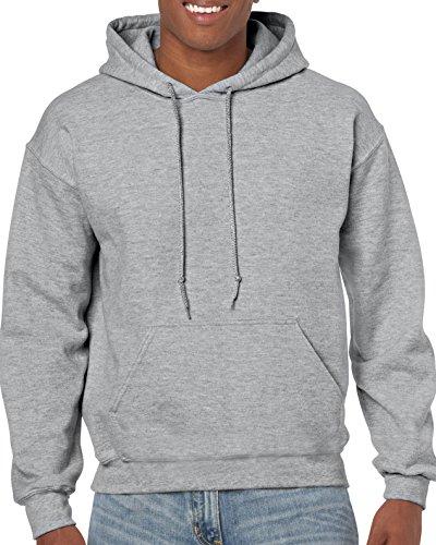 Gildan Herren Hooded Sweatshirt Hemd, Grau - Sport Grey, Groß (Sport-grey Gildan)