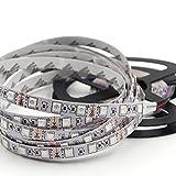 Market&YCY LED-Streifen-Licht-Kit, 16,4 ft 300 LEDs Nicht-wasserdichte Multicolor 5050 RGB Beleuchtung + 12V 5A Power Adapter + 44 Tasten-Fernbedienung