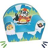 DELSIT Kindersessel Babysessel Kinder Sessel Baby Sitz Kindermöbel für Jungen PILOT Blau
