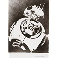 Poster BB-8 Droide STAR WARS Handmade Graffiti Street Art - Artwork