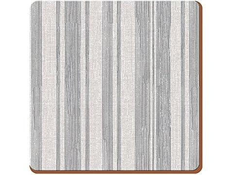 Creative Tops portent tous Home Sous-verres Envers en liège texturé jours, en bois, gris, 4pièces
