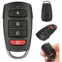 Mando a distancia universal para puerta de garaje, 4 botones, 433 mhz Tamaño libre negro