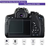 Fiimi LCD Tempered Glass Screen Protector For Canon EOS 750D,9 H Hardness,0.3mm Thickness,Made From Real Glass (Tempered Glass)