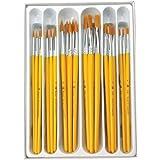 Royal & Langnickel RCVP-101 - Set de brochas redondeadas/planas de taklon dorado, 30 piezas