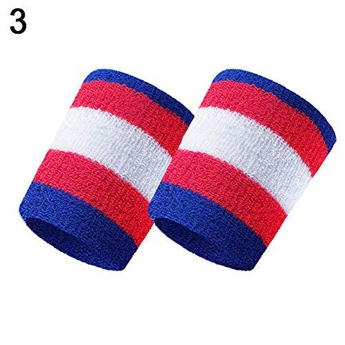 CricTeQleap Fitnesszubeh?r, Streifen-Sport-Badminton-Basketball-Armband absorbieren Schwei?Handtuch-Handgelenkschutz - 3#