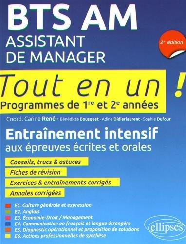 Bts Am Assistant Manager 2e Édition Programmes de 1re et 2e Annees par Bénédicte Bousquet (coord.), Carine René, Sophie Dufour, Adine Didierlaurent
