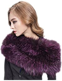 infinity bufandas de punto bufanda de piel de zorro invierno cálido cuello hogar multicolor morado morado