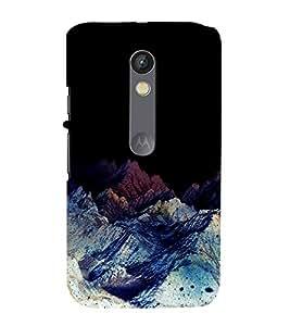 printtech Nature View Mountains Back Case Cover for Motorola Moto X Play / Motorola Moto X Play Dual SIM