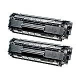 2 Toner für Canon Catridge 703 I-Sensys LBP 2900 B I Series Lasershot LBP 2900 3000 - 7616A005 - Schwarz je 2000 Seiten