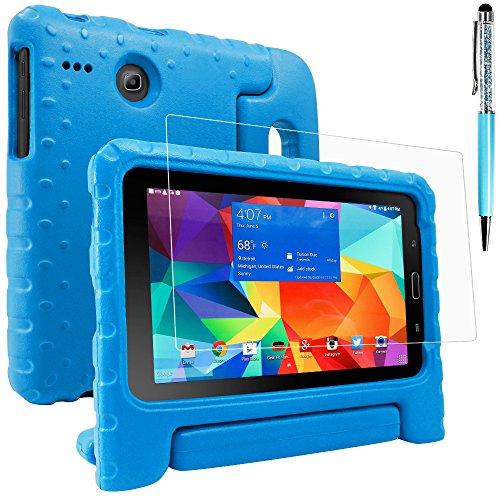 Schutzhülle für Samsung Galaxy Tab E Lite 8.0 mit Display Schutz und Stylus, AFUNTA Anti-Kratzer Cabrio Griff Stand EVA Fall, PET Kunststoff Abdeckung und Touch Pen für Tablet 8 Zoll – Blau (Tablet Samsung 8-zoll-abdeckung)
