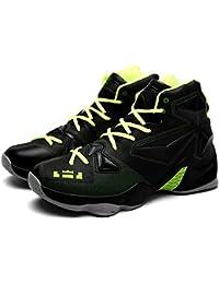 Zapatos de Deporte de los Hombres de la Moda Zapatos de Baloncesto de la PU Zapatos de Baloncesto Ligeros al Aire Libre con Las Zapatillas de Deporte Antideslizantes de Goma