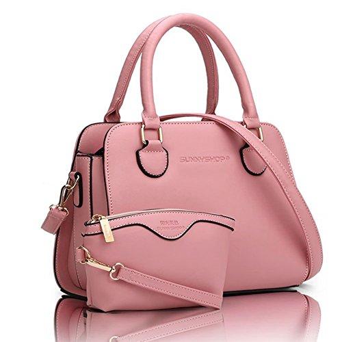 YipGrace Le Donne Annata Della Borsa Del Sacchetto Di Spalla Del Tote Della Cartella Hobo Set Pink