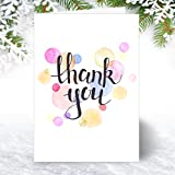 Thank You Cards - A6 Folding Style with Pretty Watercolour pattern. (Pack of 10)