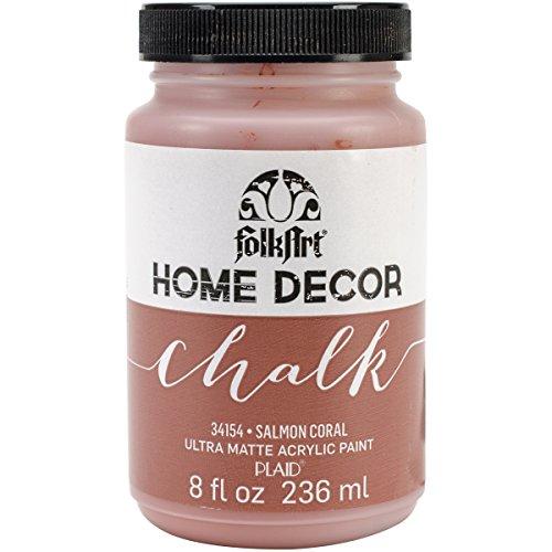Plaid: Craft Folkart Home Decor Chalk Paint 8 Oz, salmone, colore: corallo