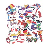 SZYND National Flags Stickers Toys For Children Countries Map Travel Sticker To Diy Scrapbooking Suitcase Laptop Car Motorcycle 50 Pcs