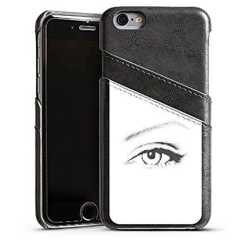 Apple iPhone 5s Housse Étui Protection Coque ¼il ¼il Graphique Étui en cuir gris