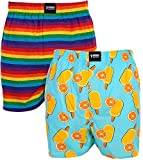 Happy Shorts 2 Webboxer Herren Boxer Motiv Boxershorts Design 20, Grösse:XL - 7-54, Präzise Farbe:Design 20