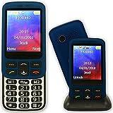 Mobiho Essentiel Le Zip Elegant 3G Bleu - Un Mobile Senior Coulissant GSM 2G et 3G. Son Fort, Grand écran 2.80'' - SMS et MMS - Bluetooth - Base - SOS - Appels directs - Lampe - DEBLOQUE Toute SIM