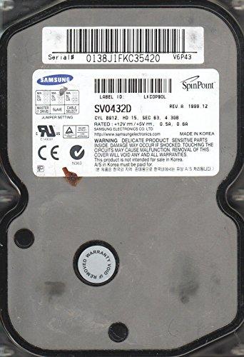 4.3 Gb Festplatte (SV0432D, V6P43, BF41-00015A REV 1, Samsung 4.3GB IDE 3.5 Festplatte)