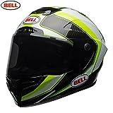 BELL 7091908 Casco per Moto, Sector White/Hi Viz Green, Taglia L