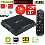 SreeTeK Android Box X96 MAX 2GB 16GB Android Box for TV, JIO TV