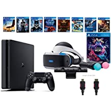 PlayStation VR Launch Bundle 9 Items:VR Launch Bundle,PS4 Slim- Uncharted 4,7VR Game Disc Until Dawn:Rush of Blood, Valkyrie,Battlezone,Arkham VR, DriveClub,Eagle Flight,Combat (Version US, Importée)