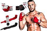 ActiveVikings Boxbandagen 4m mit Klettverschluss Ideal für Jede Kampfsportart   Boxen Kickboxen Jiu Jitsu Muay-Thai MMA (Schwarz)