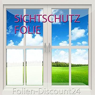 F-D24 Fensterfolie 100x100 cm als Sichtschutz | Klebefolie in Milchglas-Optik für Fenster, einsetzbar als Sichtschutzfolie oder Sonnenschutzfolie