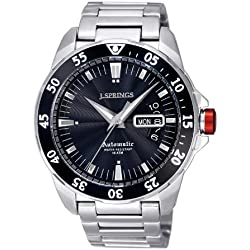 J-Springs BEB063 Men's Automatic Watch Analogue with Luminous hands Silver Stainless Steel Strap