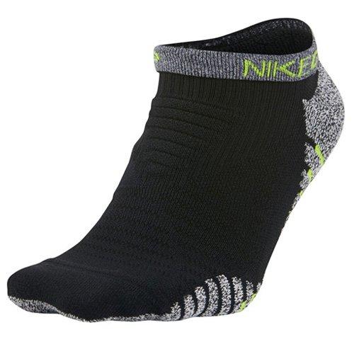 Nike Herren M Grip Lightweight Low Niedrige Laufsocken 1 Paar, Schwarz/Volt gelb, L (Nike Performance Socken Gepolstert)