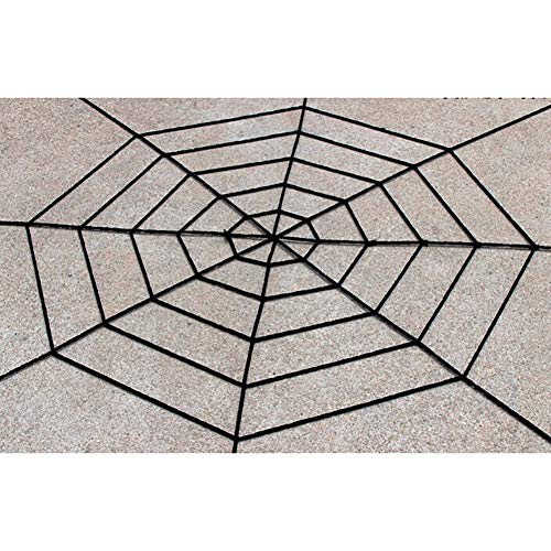 nennetz, Spinnennetz, Spinnennetz, für Halloween, Dekoration, Party, Geschenk, 150 cm, 360 cm, Schwarz/Weiß 150cm Black ()