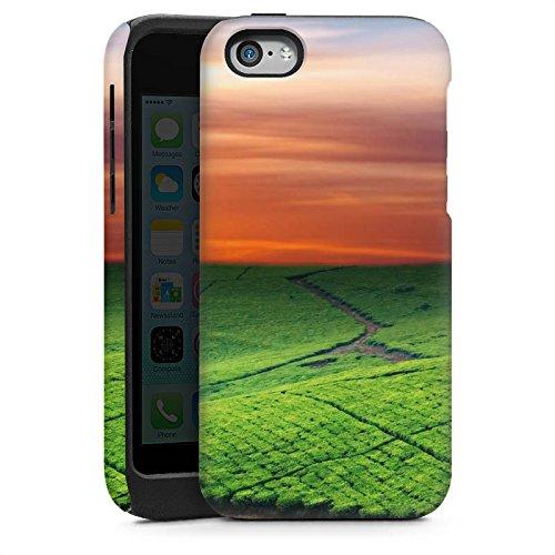 Apple iPhone 6 Housse Étui Silicone Coque Protection Paysage de prairies Coucher de soleil Irlande Cas Tough brillant
