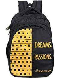 POLE STAR BIG -4 Black Yellow 40 Lt Laptop /Casual Travel Backpack /School bag