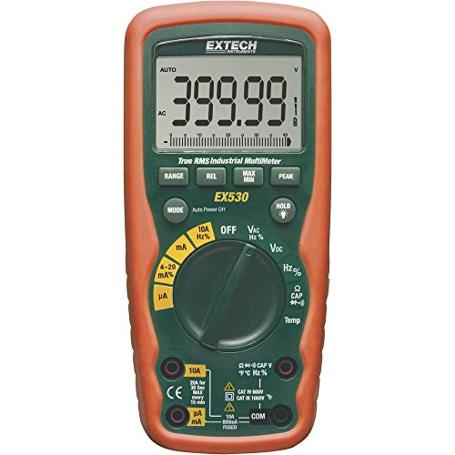 Extech EX530 Multimeter Tragbar Digital Wasserdicht (IP67) Cat III 1000 V, CAT IV 600 V Anzeige (Counts): 40000