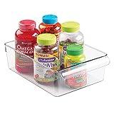 mDesign Mehrzweck-Aufbewahrungsbox für z.B. Medikamente, Vitamin-Behälter Oder Sonstiges Gesundheitszubehör - Praktische Tablettenbox aus BPA-freiem Kunststoff - Transparent