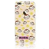 blitzversand Handyhülle Monkey AFFE Comic kompatibel für Samsung Galaxy S6 Monkey Theme Schutz Hülle Case Bumper transparent M7