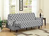 Best Linen Store Furniture Couches - Sofa , Grey : Austin Reversible Solid/Print Microfiber Review